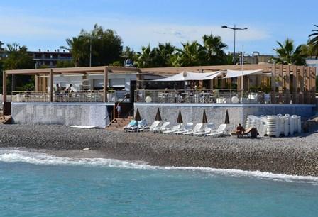 Réalisation restaurant plage à Cagnes sur mer